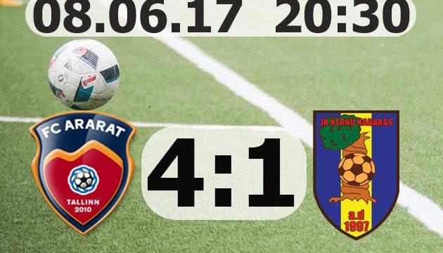 Väikesed Karikavõistulused FC Ararat Tallinn - Jk Kernu Kadakas